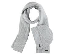 Schal ' Set aus Schal und Mütze ' grau