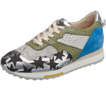 Trelly Sneakers Low blau / hellgrün / silber