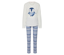 Pyjama 'dessa CAS NW' blau / weiß