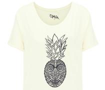 T-Shirt hellgelb / schwarz