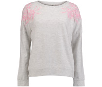 Sweatshirt 'LW Lace Crew' pink / weiß
