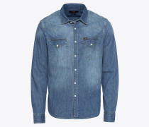 Hemd 'western' blue denim
