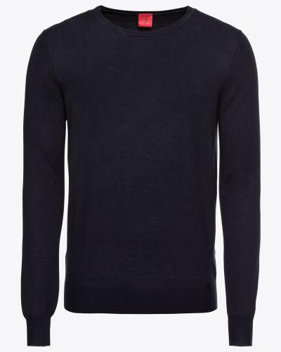 Pullover 'Strick Lvl5 Merino / Seide' marine
