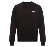 Sweatshirt 'Samuel Logo' schwarz