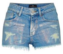 'Pamela' Denim Shorts blau / silber