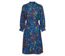 Kleid blau / gelb / rot