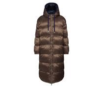 Mantel 'Olwen Puffer Coat' blau / braun