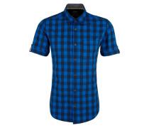 Hemd blau / schwarz / weiß