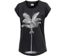 T-Shirt 'Irma' nachtblau / weiß