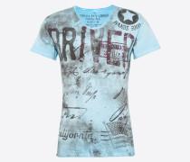 T-Shirt 'Driving' hellblau