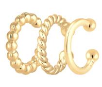 Ohrringe 'Earcuff Set Geo' gold