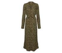 Kleid oliv / schwarz