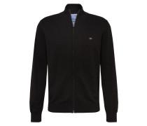 Strickjacke 'Cardigan Zip' schwarz