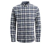 Hemd navy / grau / weißmeliert