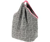 Strandtasche schwarz / weiß