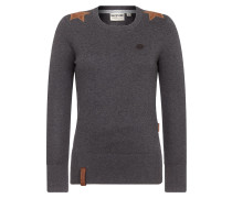 Pullover 'Hans Glanz' braun / dunkelgrau