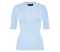 Lurex Pullover mit Halbärmeln blau