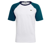 Shirt weiß / petrol