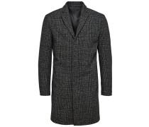 Woll Mantel dunkelgrau