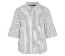 Bluse grau / weiß