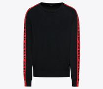Pullover 'k-Tracky' rot / schwarz