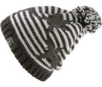 Bommelmütze schwarz / weiß