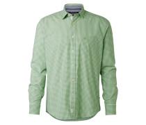 Hemd hellgrün / weiß