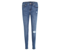 Regular-Waist-Jeans blue denim