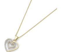 Kette mit Anhänger »Herz« gold