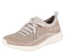 Sneaker 'salutations' taupe