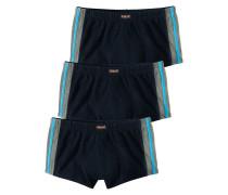 Boxer (3 Stck.) neonblau / grau / schwarz