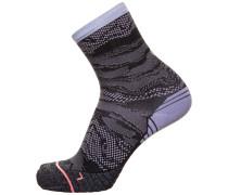 Socken dunkellila / schwarz