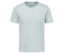 Streifen T-Shirt mint / weiß