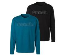 Shirt blau / schwarz