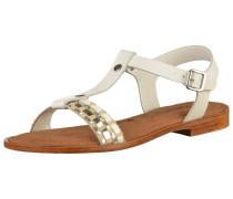 Sandale 'Lametta' silber / weiß