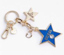 Schlüsselanhänger 'Charm Stern' blau / gold
