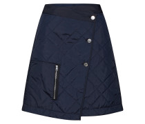 Rock 'Powel quilted wrap skirt' blau