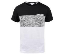 T-Shirt 'Sinor' weiß / schwarz / grau