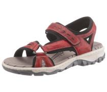 Sandale blutrot / schwarz