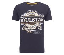 T-Shirt marine / gelb / weiß