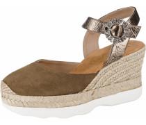Sandaletten braun / gold