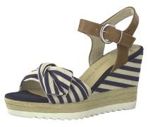 Sandalette nude / marine / brokat
