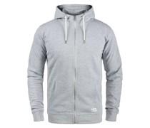 Sweatjacke 'Tambo' grau / weiß