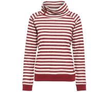 Sweatshirt Stehkragen rot / weiß