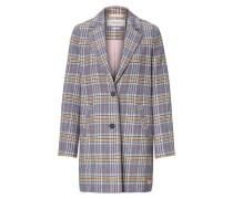 Mantel blau / goldgelb / weiß