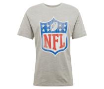 T-Shirt blau / grau / rot