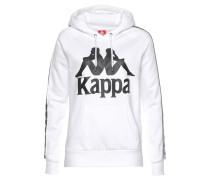 Kapuzensweatshirt schwarz / weiß