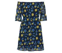 Kleid blau / gelb