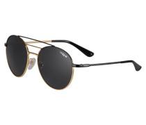 Sonnenbrille gold / schwarz