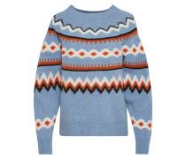 Pullover blau / braun